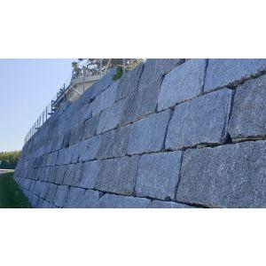 Naturstein blokk / mur / støttemur, Larvikblokka, Rustikk, kl. 2, 40 x 40 cm