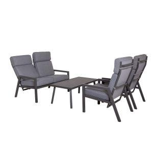 Lerida sofagruppe, grå, 2+1+1+bord