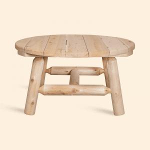 Log, Rundt bord, hagebord