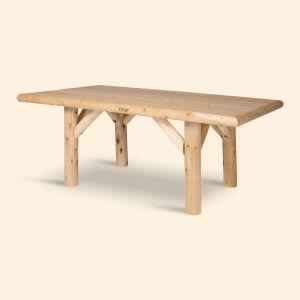 Log spisebord, 180 cm