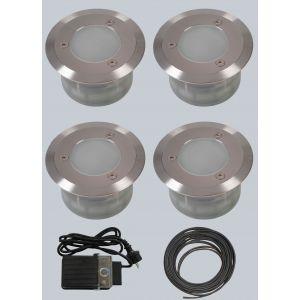 Hagelys LED, startsett, 4 stk spot, innfellbar, fra Norgarden