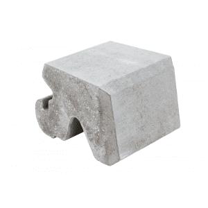 Aaltvedt - Mini Støttemur Kurveblokk, Grå