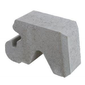Mini Støttemur, 1/2 stein, Grå, fra Aaltvedt
