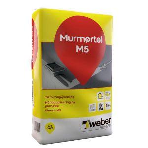 Weber Murmørtel M5, 25kg, plastsekk