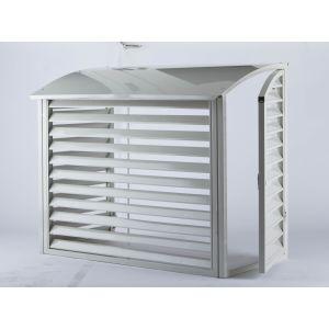 Overbygg / varmepumpehus for varmepumpe utedel, Hvit, Pulverlakert