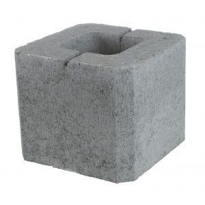 Pilarblokk / søyleblokk, 23,5 x 23,5 x 20 cm, Grå, fra Aaltvedt