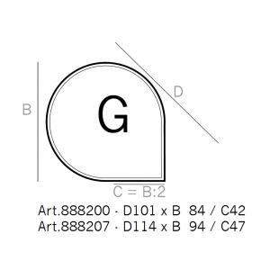 Underlagsplate dråpe fasett, type G