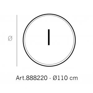 Helmin - GLASSPLATE 8MM/18MM FASETT Ø 110CM  RUND KLAR