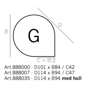 Dråpeformet underlagsplate, type G