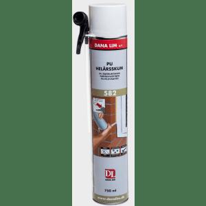 Byggskum, montasjeskum, PU 582, helårs, 750 ml