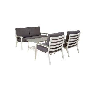 Trento sofagruppe, Hvit, aluminium