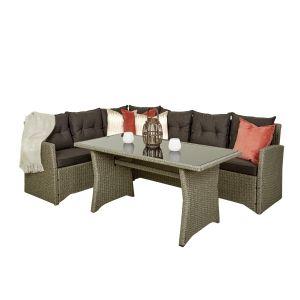 Sofagruppe, hjørne, Tulsa, mørk grå