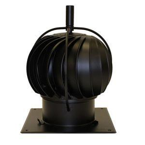 Turbowent - Sort roterende pipehatt med utvendig kulelager