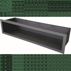 Ventilrist, Slimline, Sort, Str 650 x 150 mm. 672 cm²