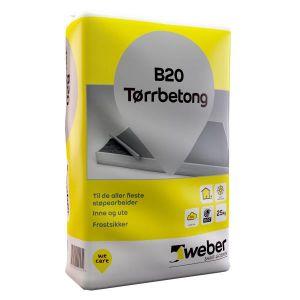 Weber B20 tørrbetong, 25kg sekk