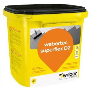 Webertec Tec Superflex, D2 membran, 24 kg spann
