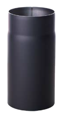 Helmin - Røykrør Ø125X500mm, Sort